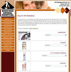 Boxford Animal Hospital Shopping Cart